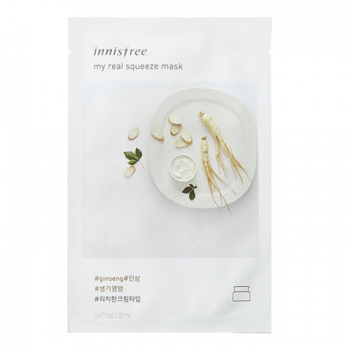 Кремовая маска для лица с экстрактом женьшеня INNISFREE My Real Squeeze Mask Ginseng